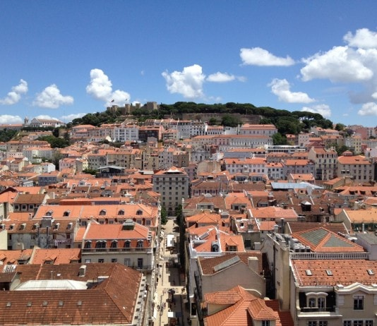 Lisbon city view of castle