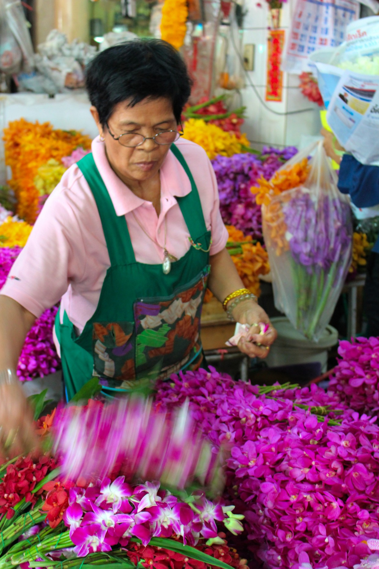 Stall at the flower market