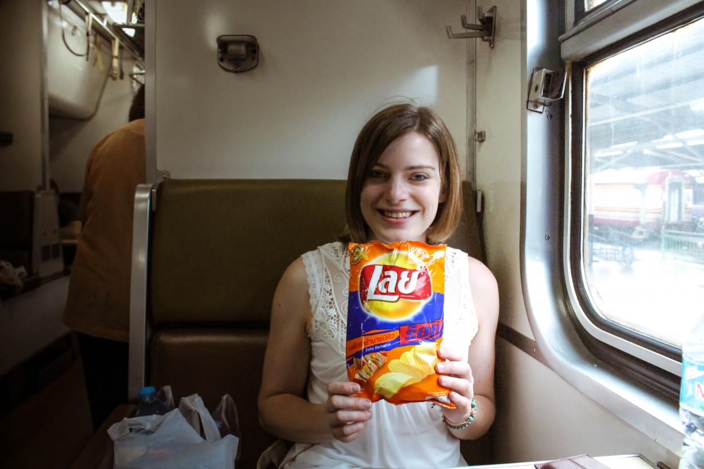 Snacks on the Thai Sleeper Train