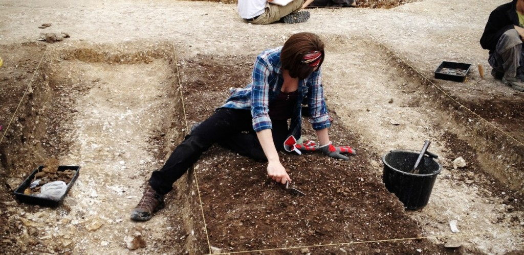 Me digging at the Durotriges Dig