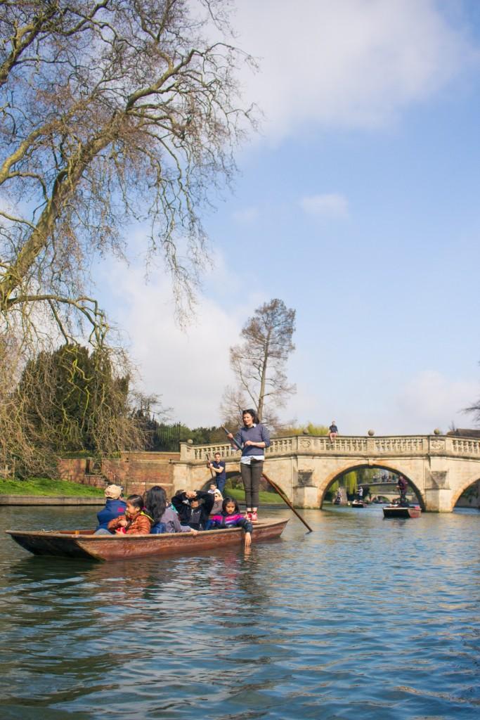 Punting in Cambridge, UK, England