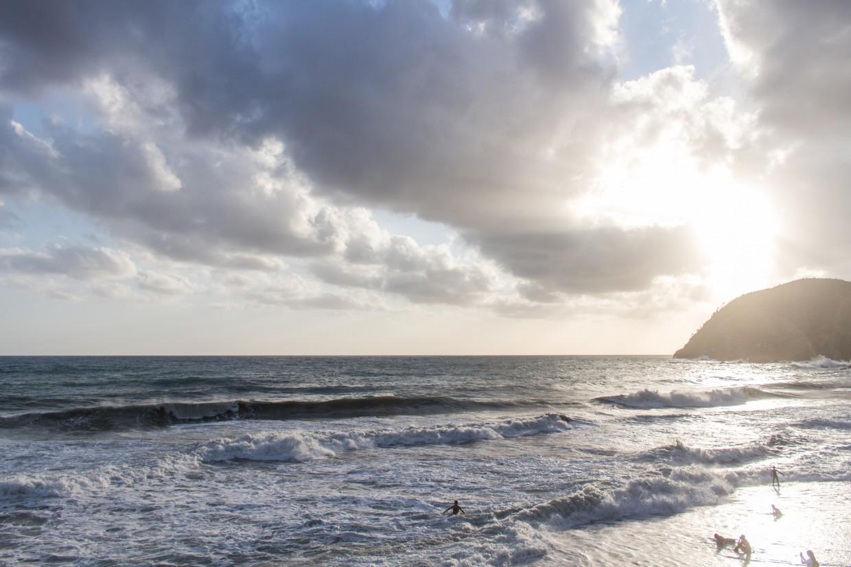 Levanto beach sunset, Cinque Terre
