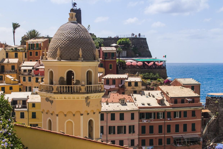Vernazza detail buildings, Cinque Terre