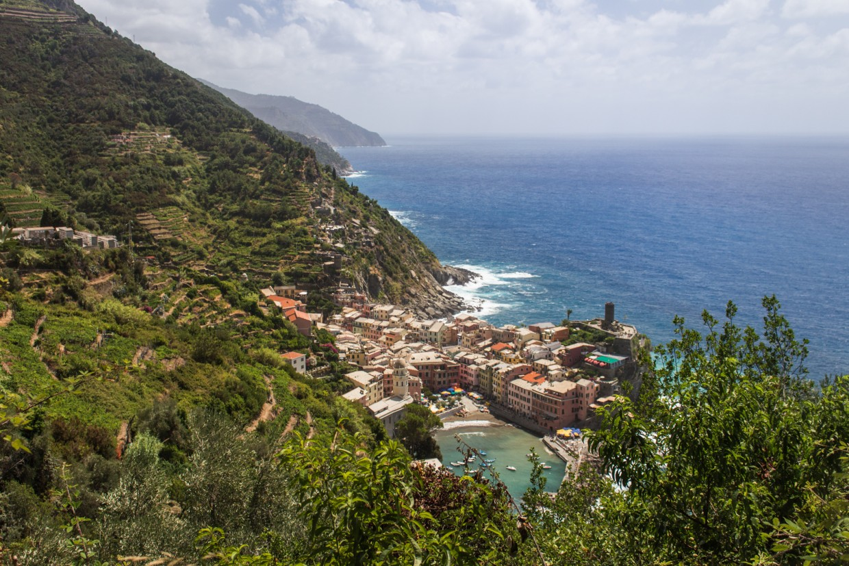 Vernazza view from the hills, Cinque Terre