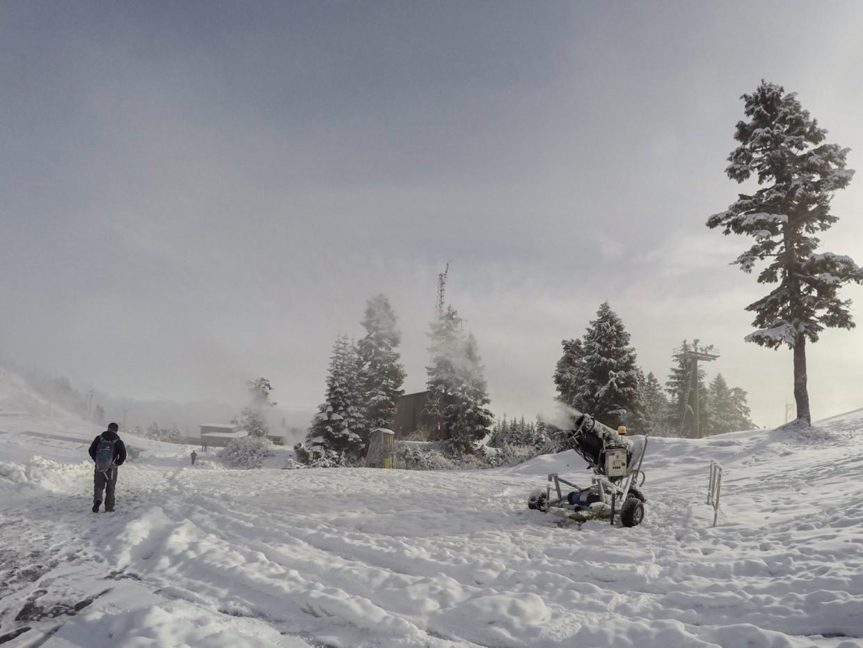 Snow machines on Grouse Mountain