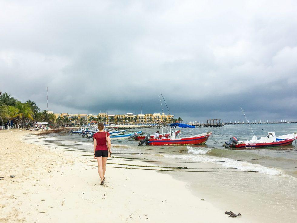 Playa del Carmen Itinerary beach