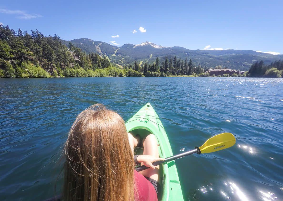 Kayaking on Nita Lake