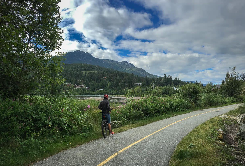 Cycling at Nita Lake Lodge