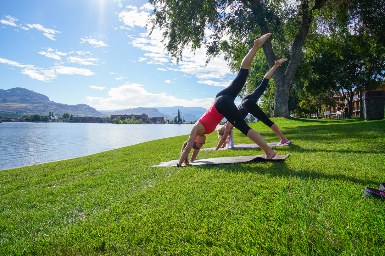 Yoga at Osoyoos Lake