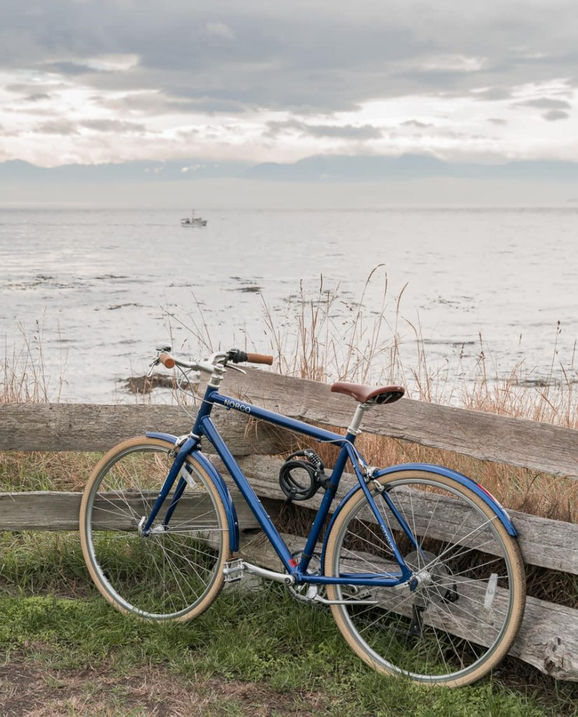 Cycling around the coast in Victoria, Canada