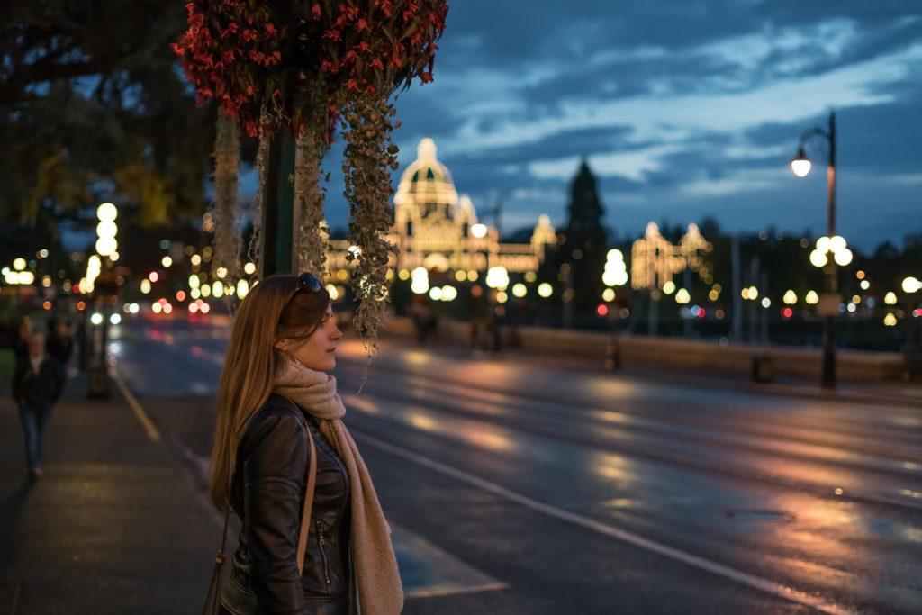 Evening in Victoria, Canada