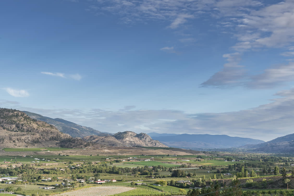 View over Osoyoos valley