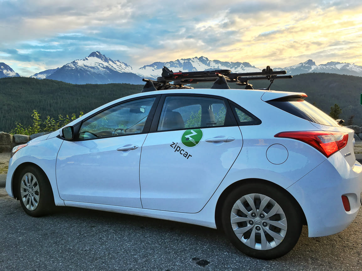 Zipcar on the Sea to Sky Highway