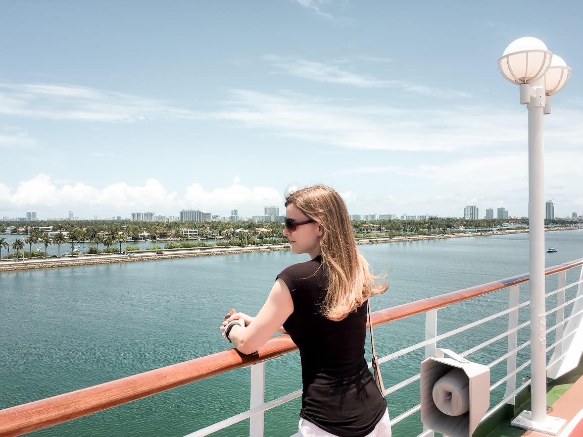 Leaving Miami on the Adonia