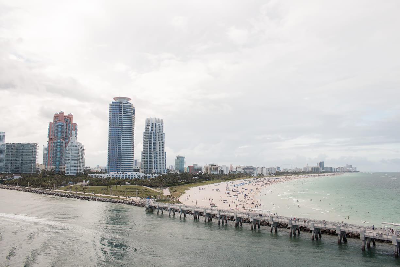 Miami Beach view from Fathom Adonia