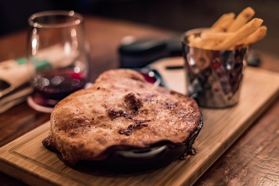 Pie at the Dubh Linn Gate Pub Whistler
