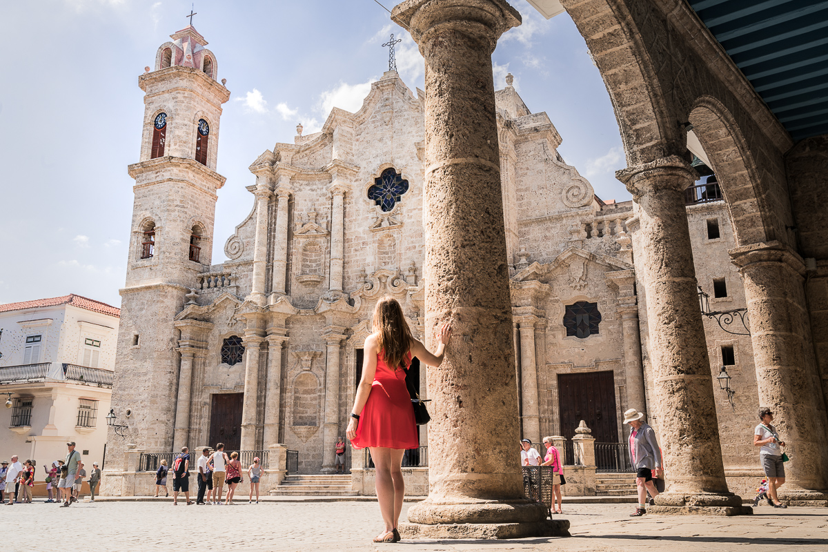 Havana cathedral baroque 2 week Cuba itinerary
