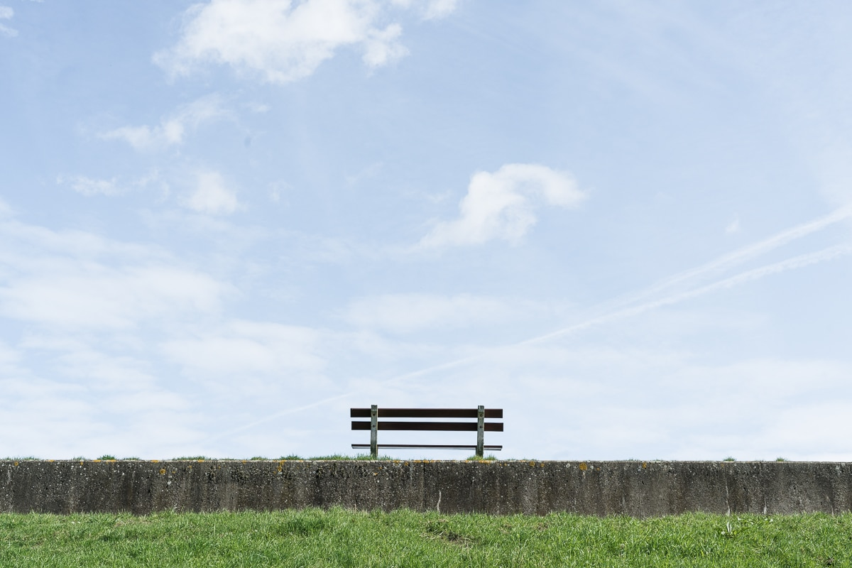 Lonely bench in Doel
