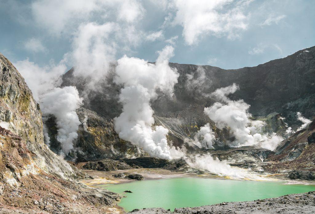 Whakaari White Island Crater