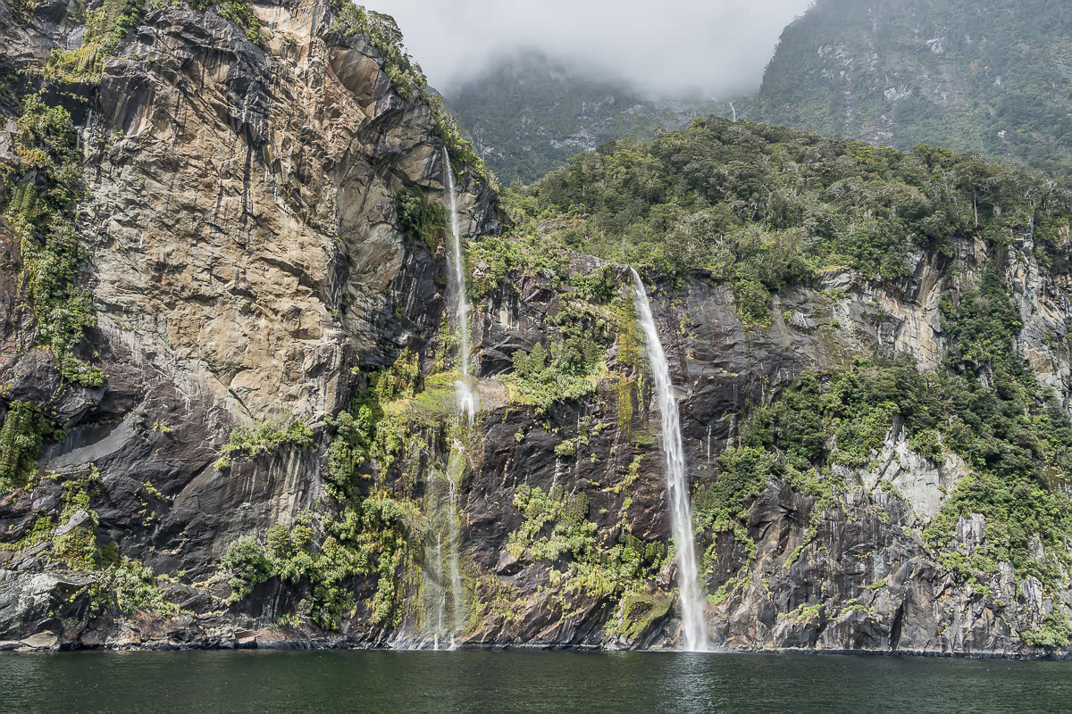 Milford Sound Waterfalls South Island