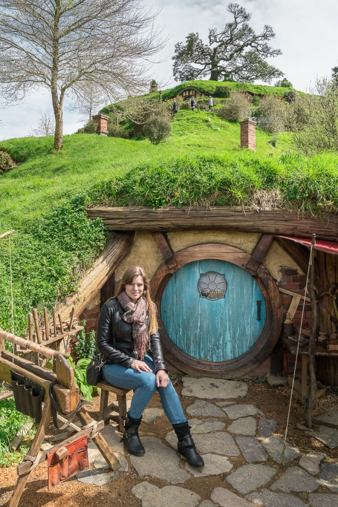 Sitting in front of hobbit hole
