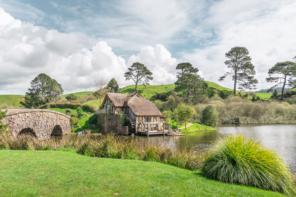 visiting Hobbiton in Matamata