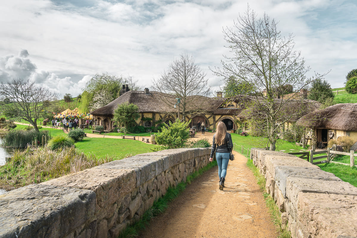 walking around Hobbiton
