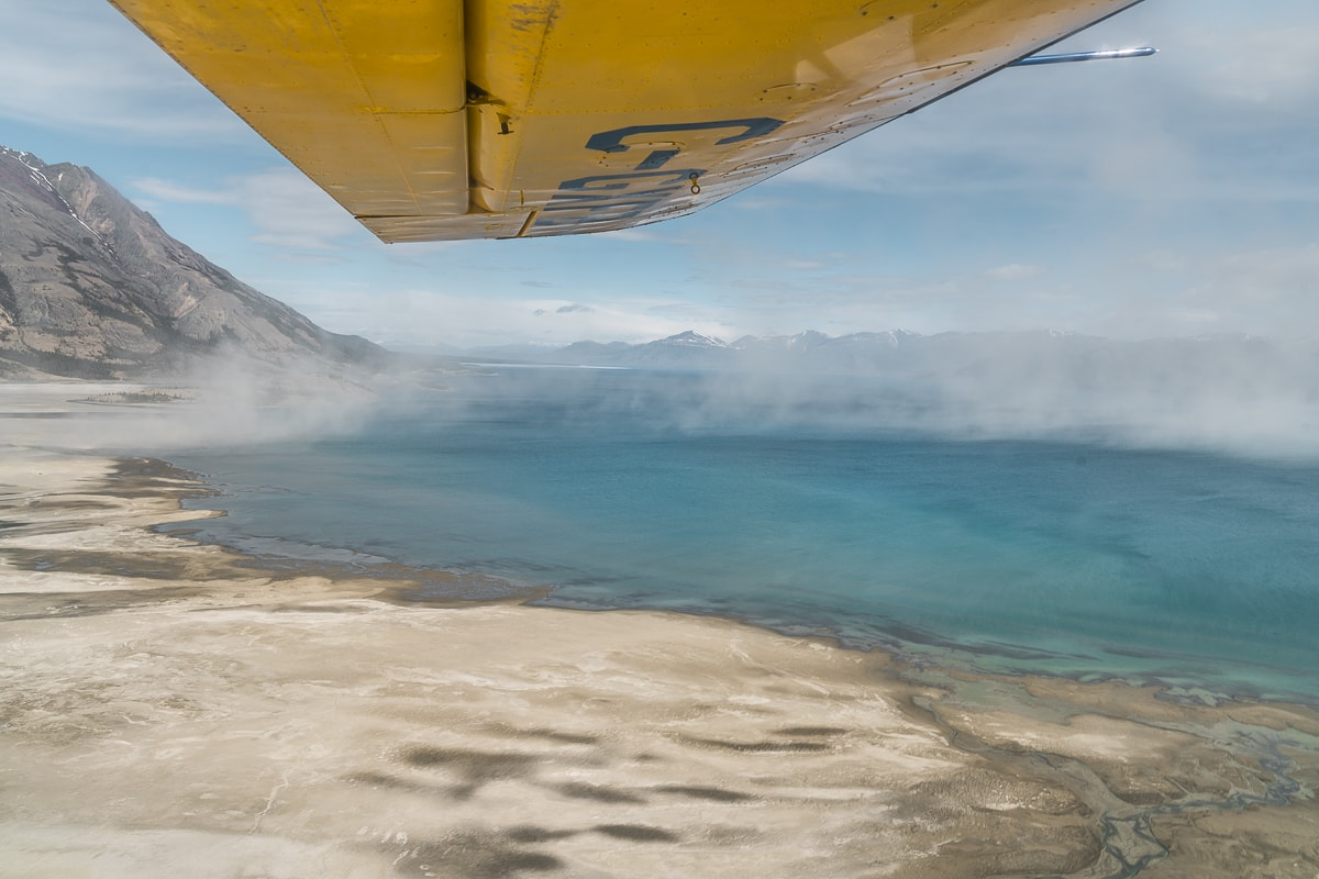 Dust storm over Kluane Lake