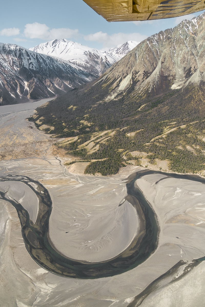 View of Slims River in Kluane National Park