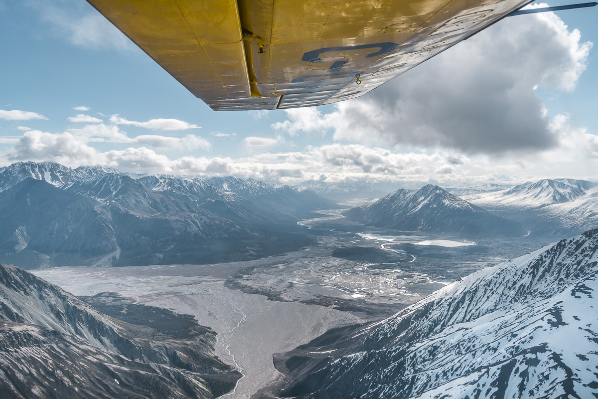 View over Kluane National Park