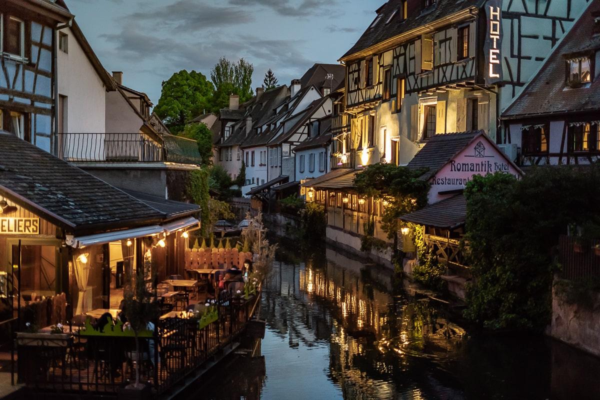 Colmar at night France