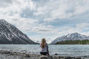 Looking over the lake Yukon