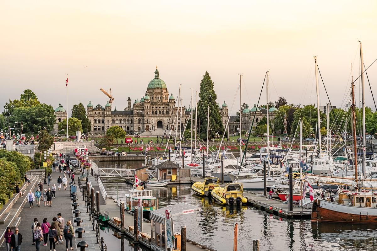 Victoria at dusk Canada