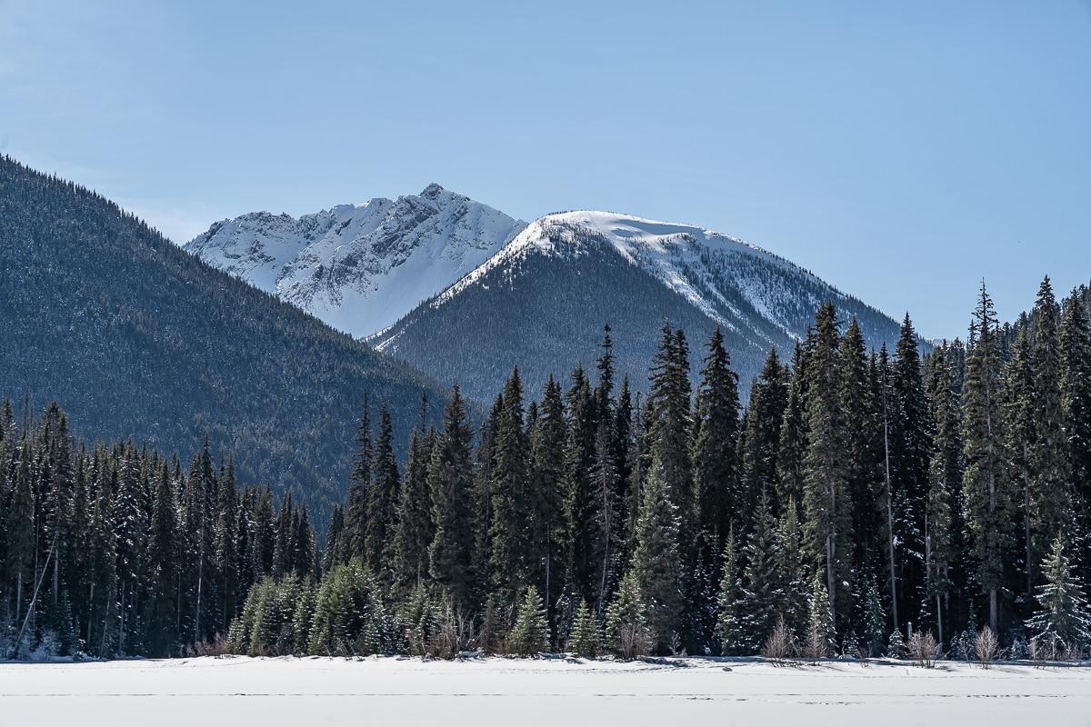 mountains on lightning Lake EC Manning Park