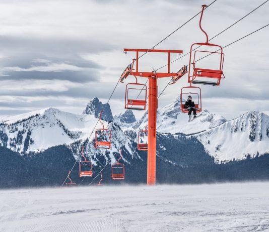 Orange ski lift Manning Park