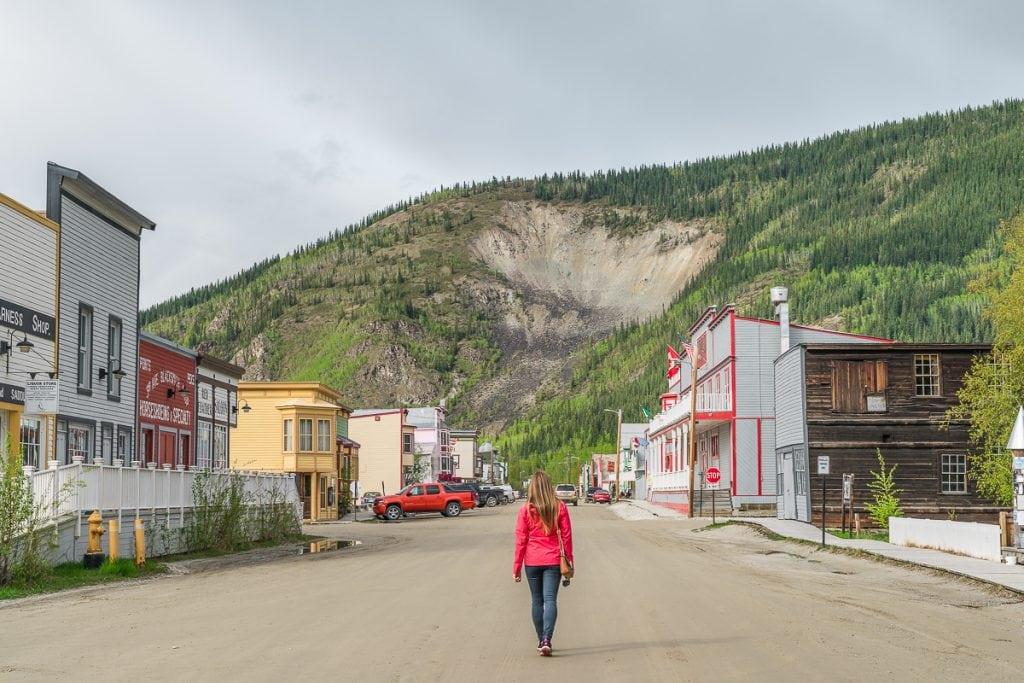 Walking around Dawson City
