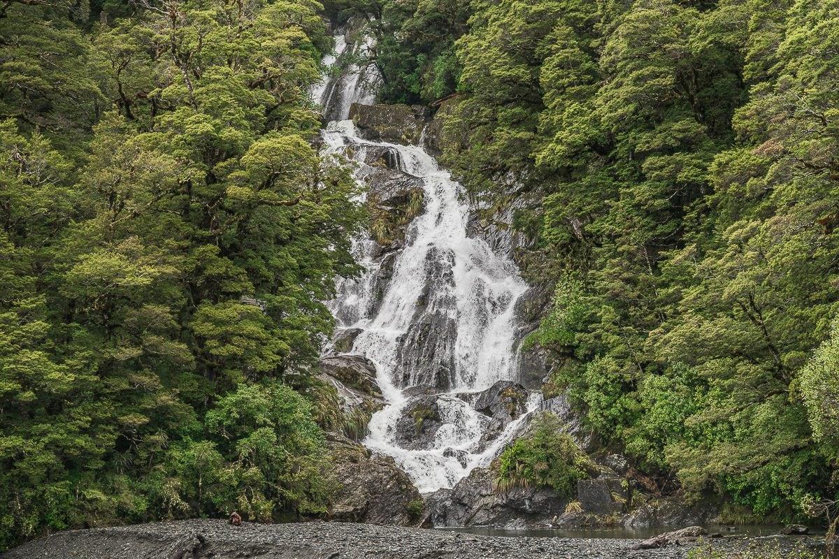 Fantail Falls Waterfall Mount Aspiring nz