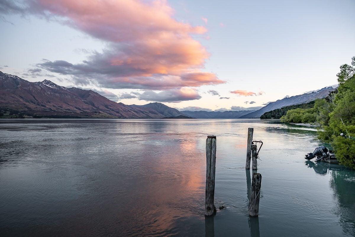 Glenorchy sunset over Lake Wakatipu