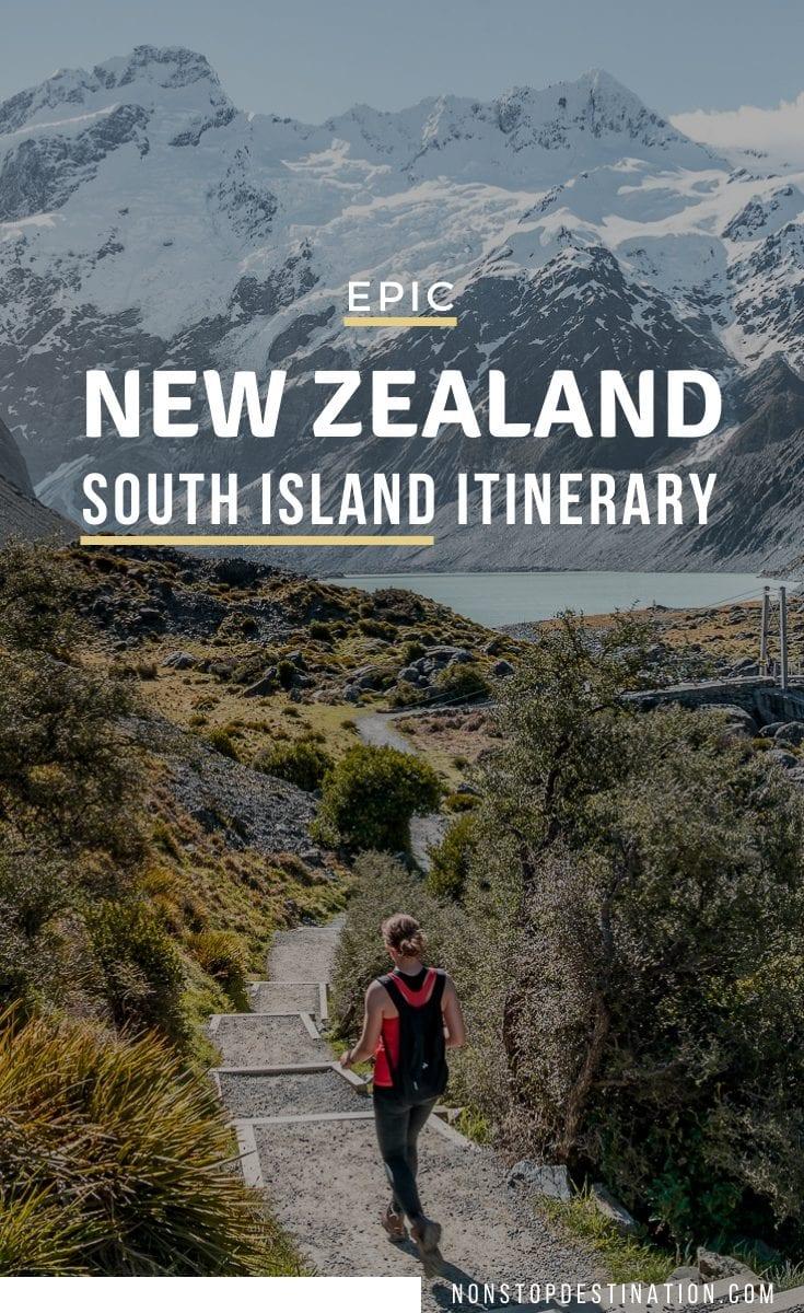 pin new zealand south island itinerary