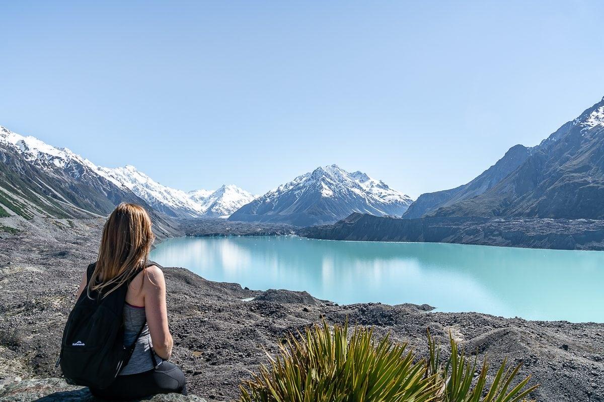 Resting by Tasman Lake