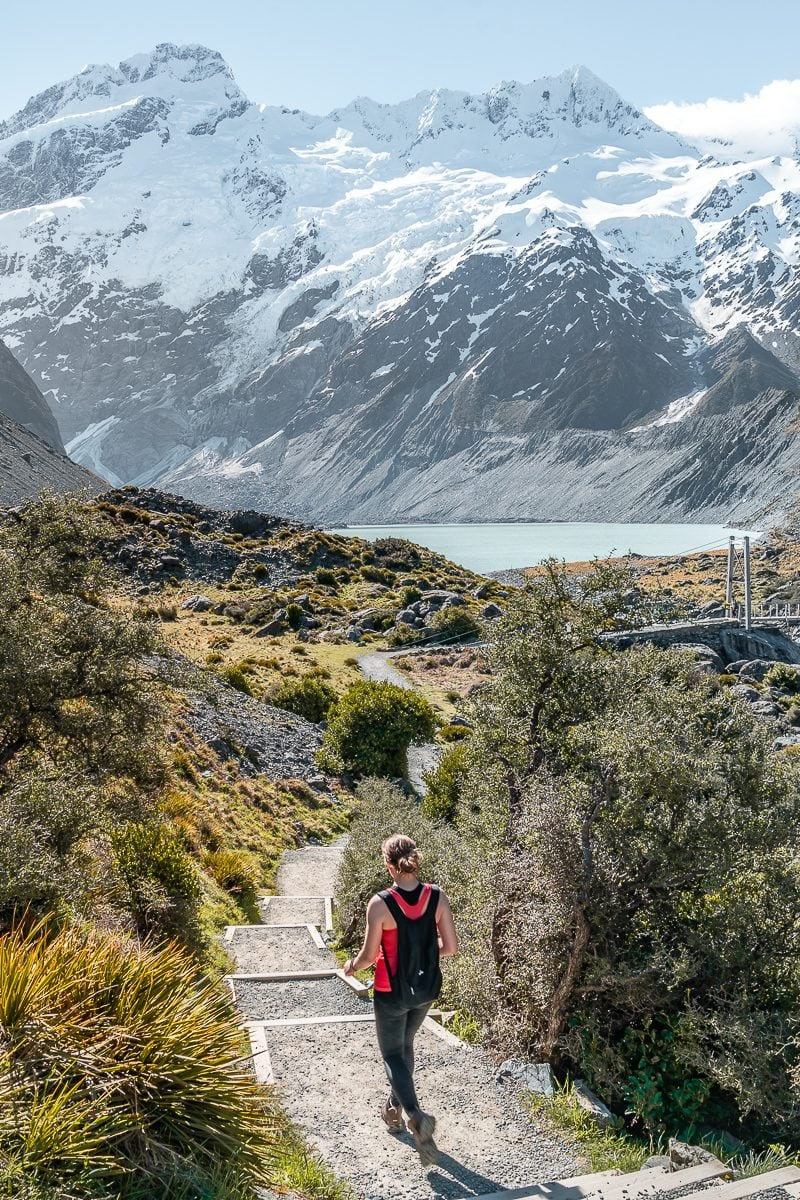 Starting the Hooker Valley trail
