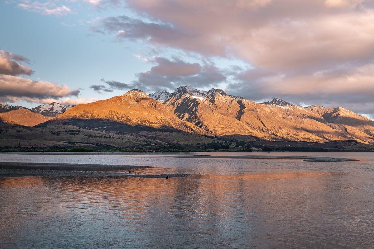 Sunset Glenorchy Lake Wakatipu New Zealand