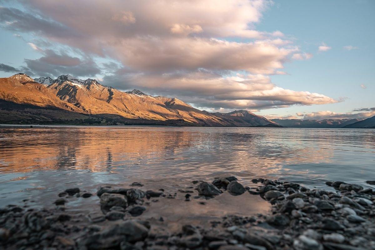 sunset Glenorchy Lake Wakatipu nz