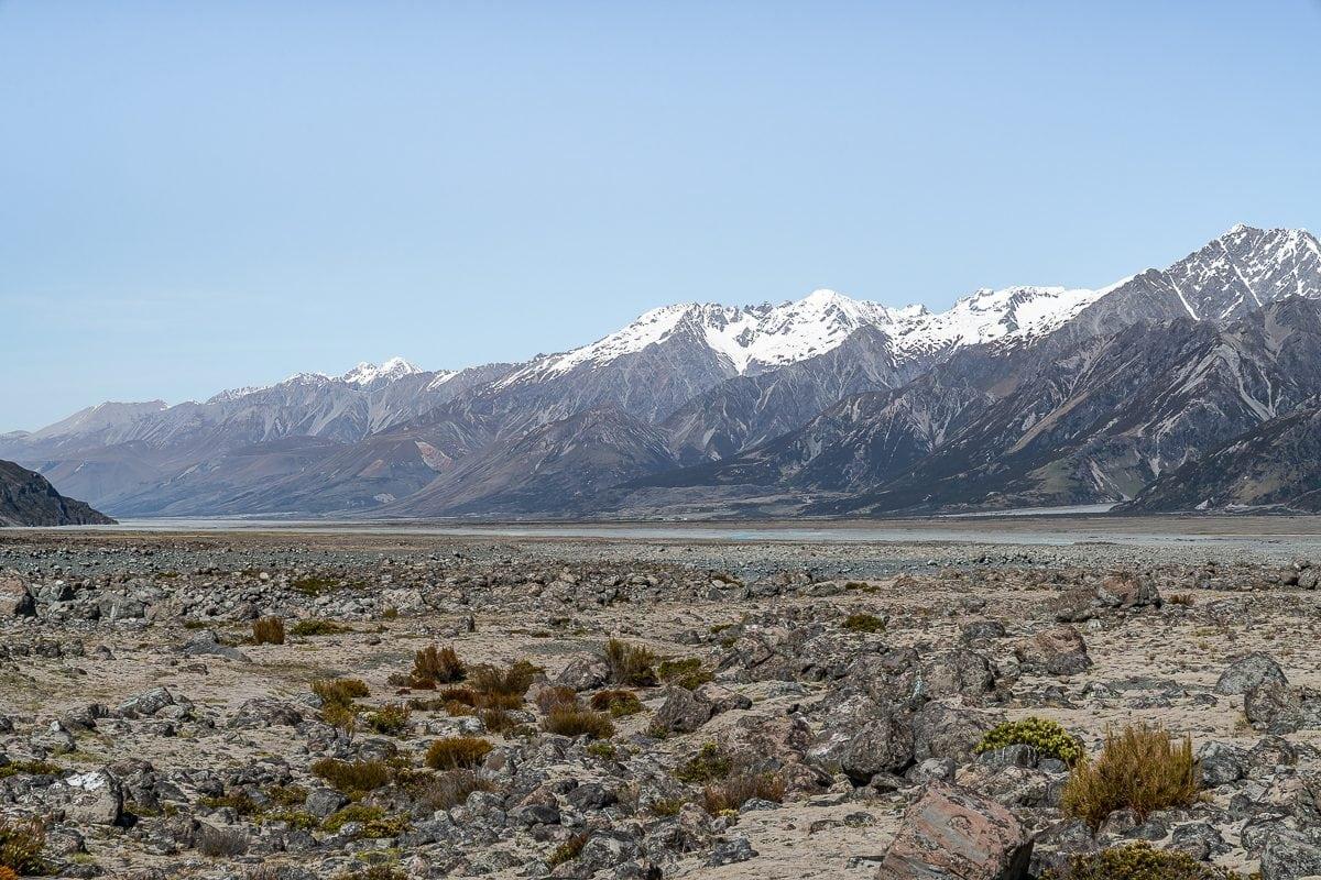 Tasman Lake Glacier valley
