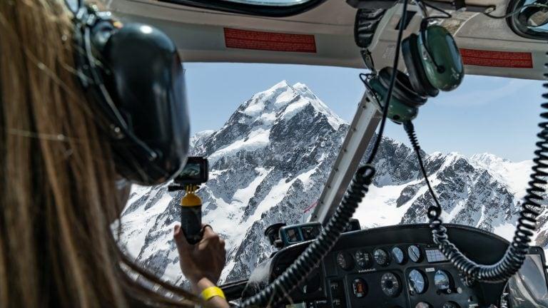 mt Cook Helicopter Flight New Zealand scenic flight