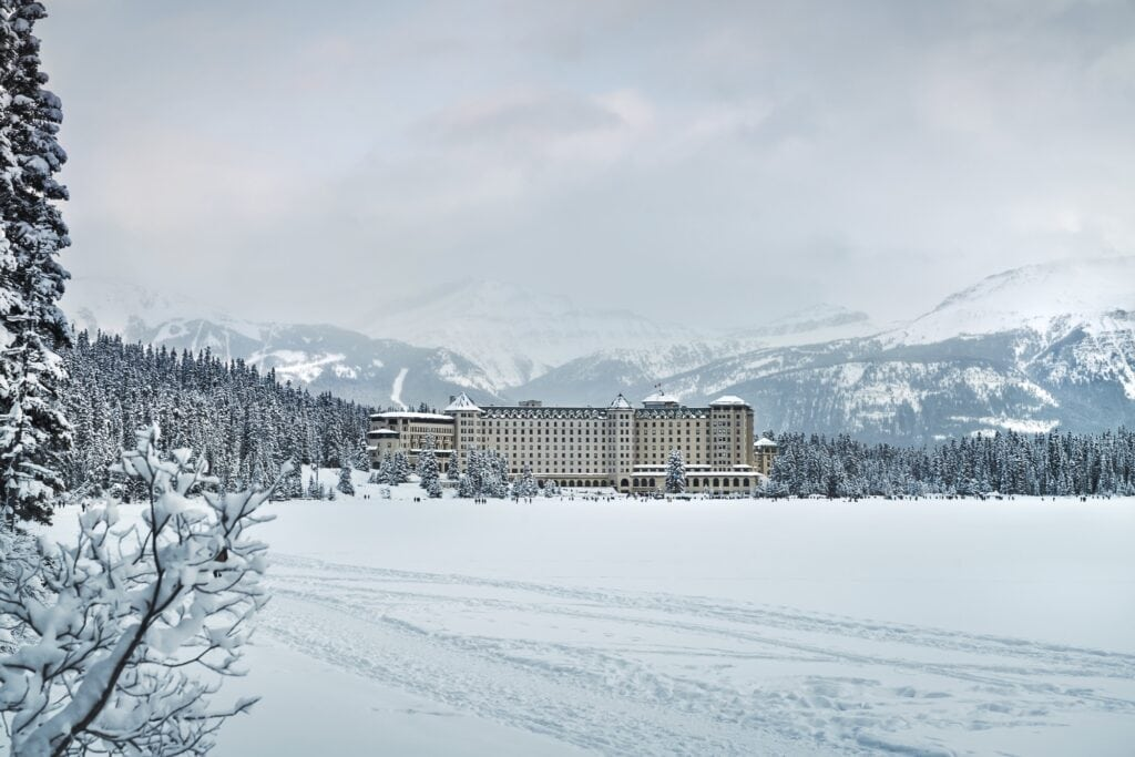 Fairmont Lake Louise in the distance