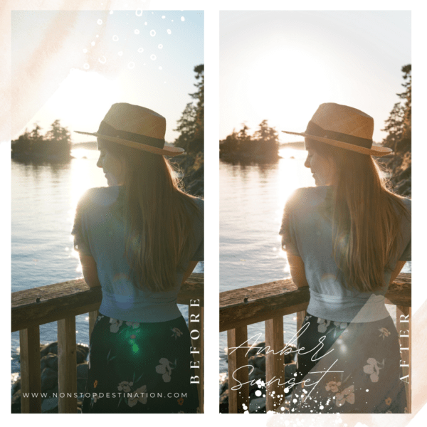 Amber sunset before after 01