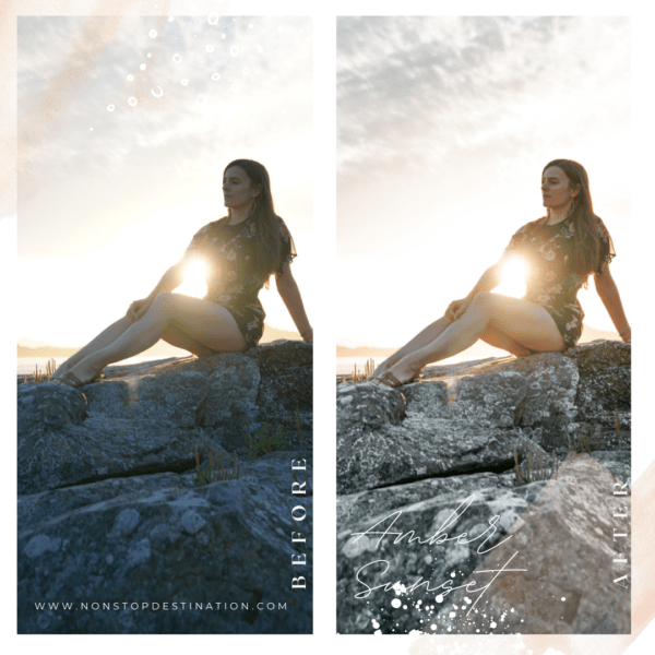 Amber sunset before after 02